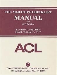 THE ADJECTIVE CHECK LIST - walter comello